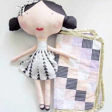 DIY Doll Quilt with Ruched Corners
