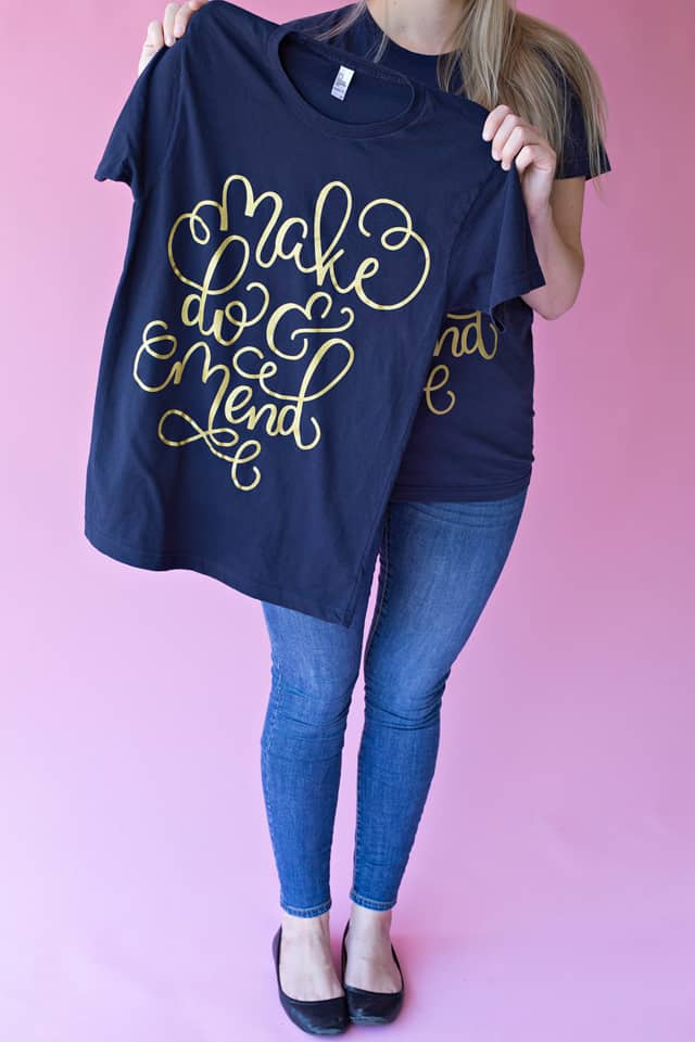 MAKE DO & MEND tee