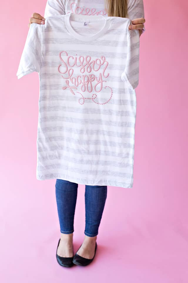 SCISSOR HAPPY GRAPHIC TEE // SeeKateSew.BigCartel.com