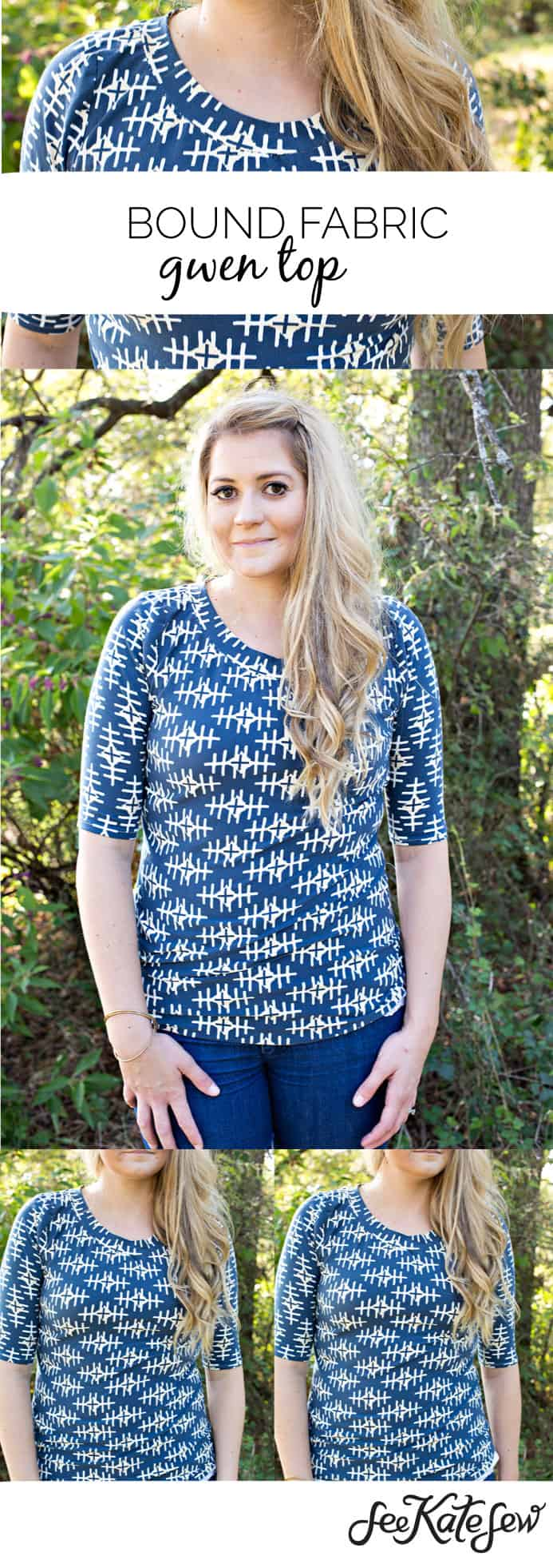 Bound Fabric Gwen Top | See Kate Sew