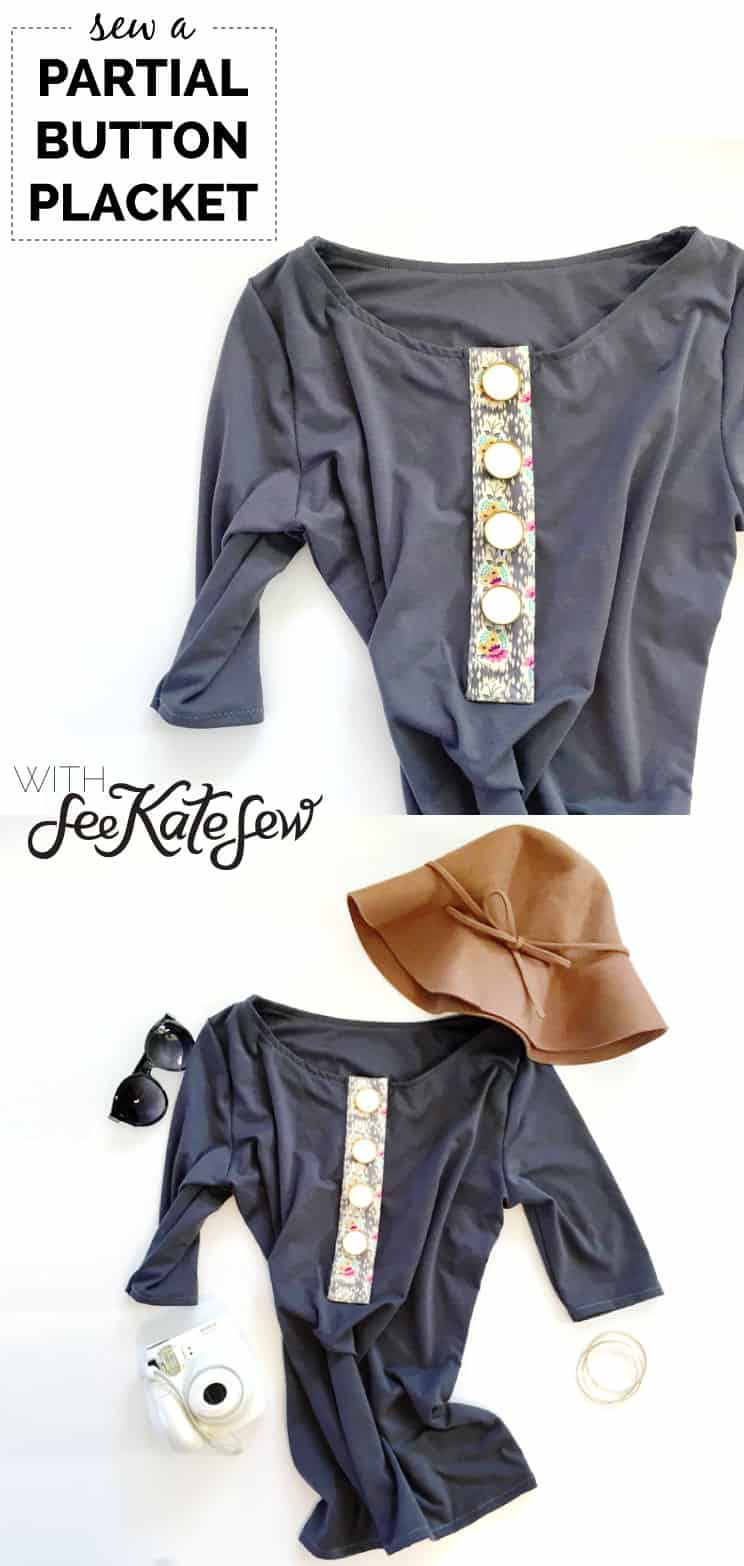 Partial Button Placket Tutorial | See Kate Sew