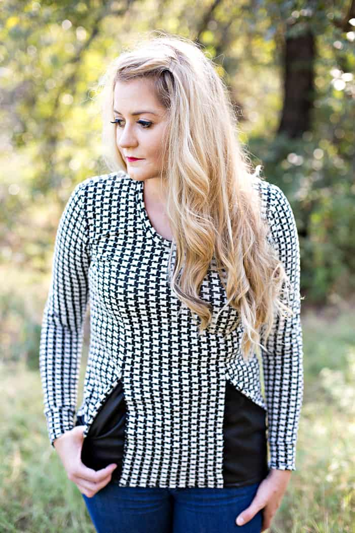 UNBIASED // The Denver Top | handmade top | fall fashion for women | fall style ideas | fall fashion | fall style tips | cool weather fashion | handmade clothing ideas || See Kate Sew