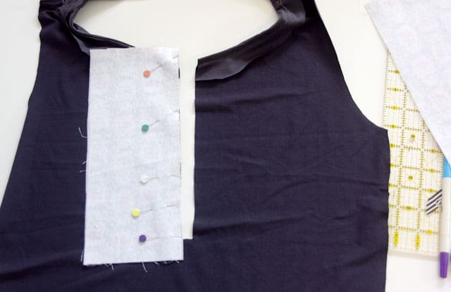 Partial Button Placket Tutorial