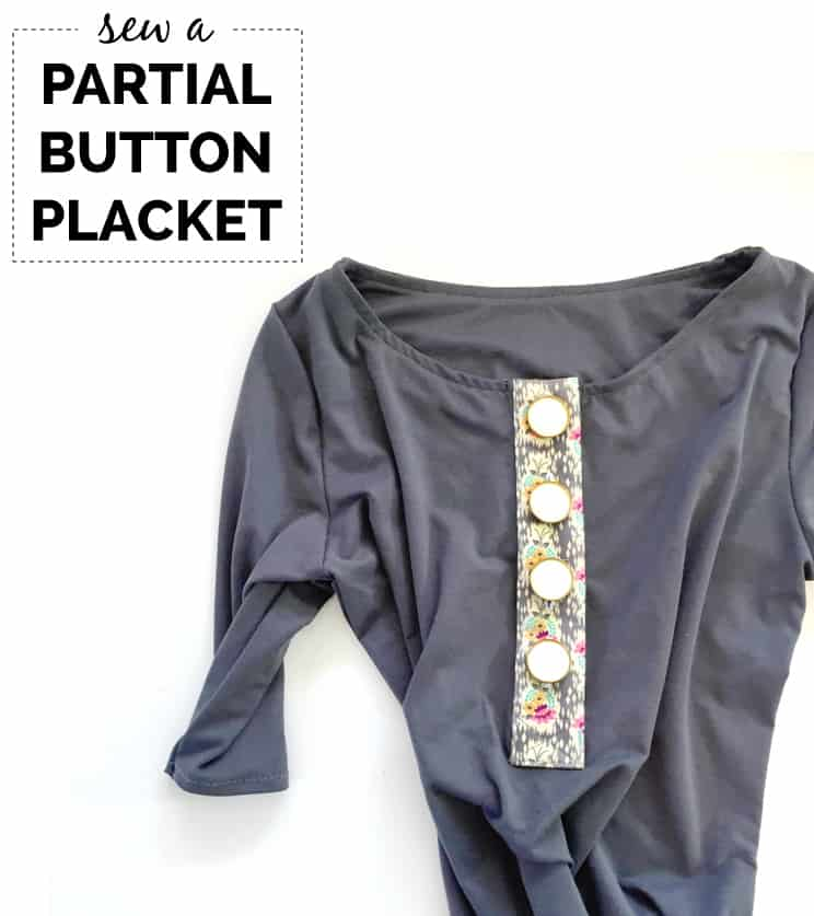 How to Sew a Partial Button Placket Tutorial | sewing tips and tricks | sewing tutorials | easy sewing tutorials | DIY sewing projects | sewing clothing projects | handmade clothing tutorials || See Kate Sew