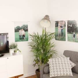 DIY Canvas Photo Wall