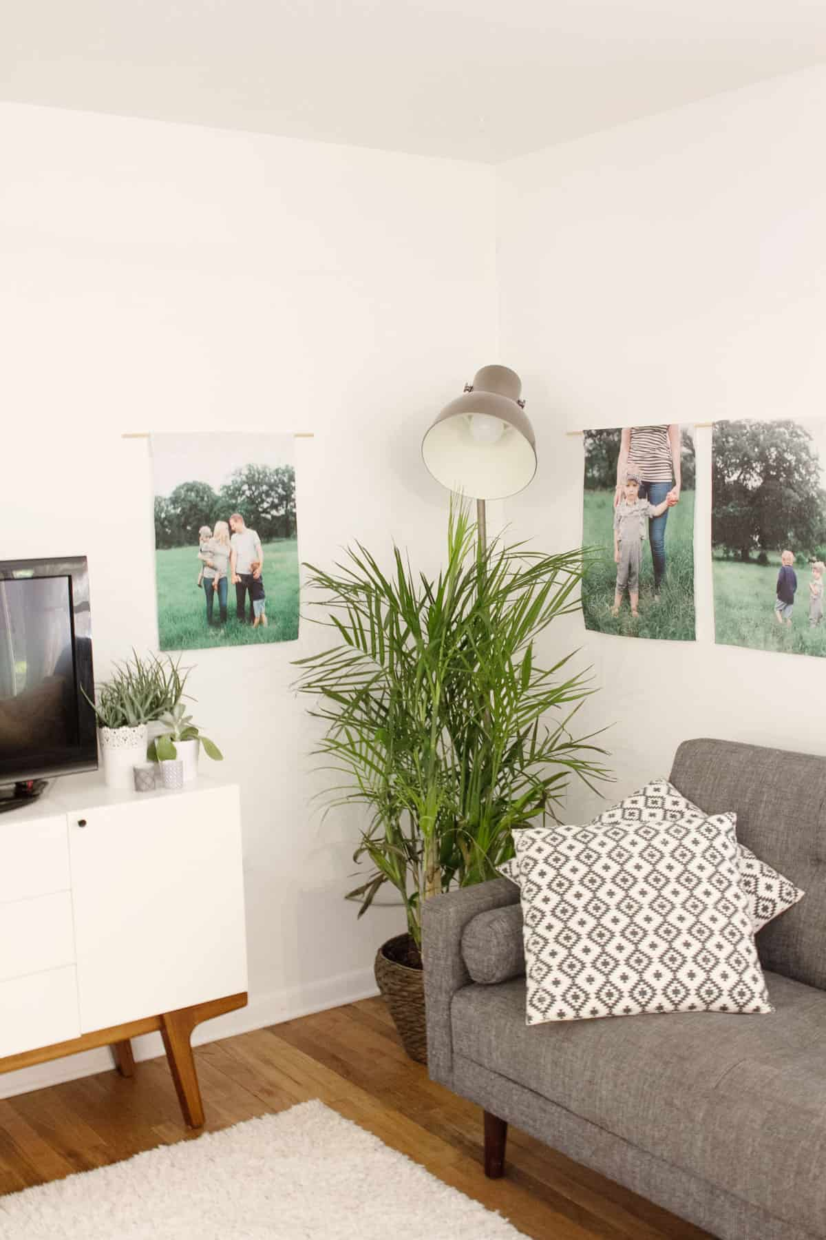 DIY Canvas Photo Wall