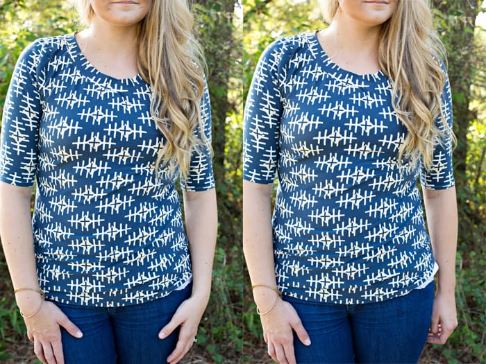 Gwen top with BOUND fabric | SeeKateSew.com
