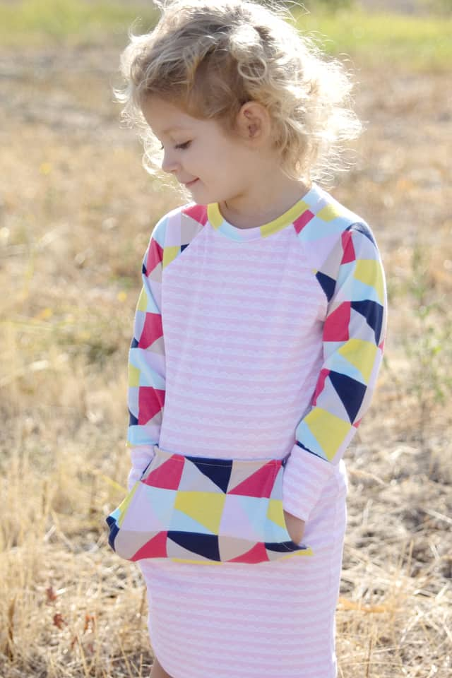 Recess Raglan Dress Hack with Idlewild Fabric by Riley Blake | See Kate Sew