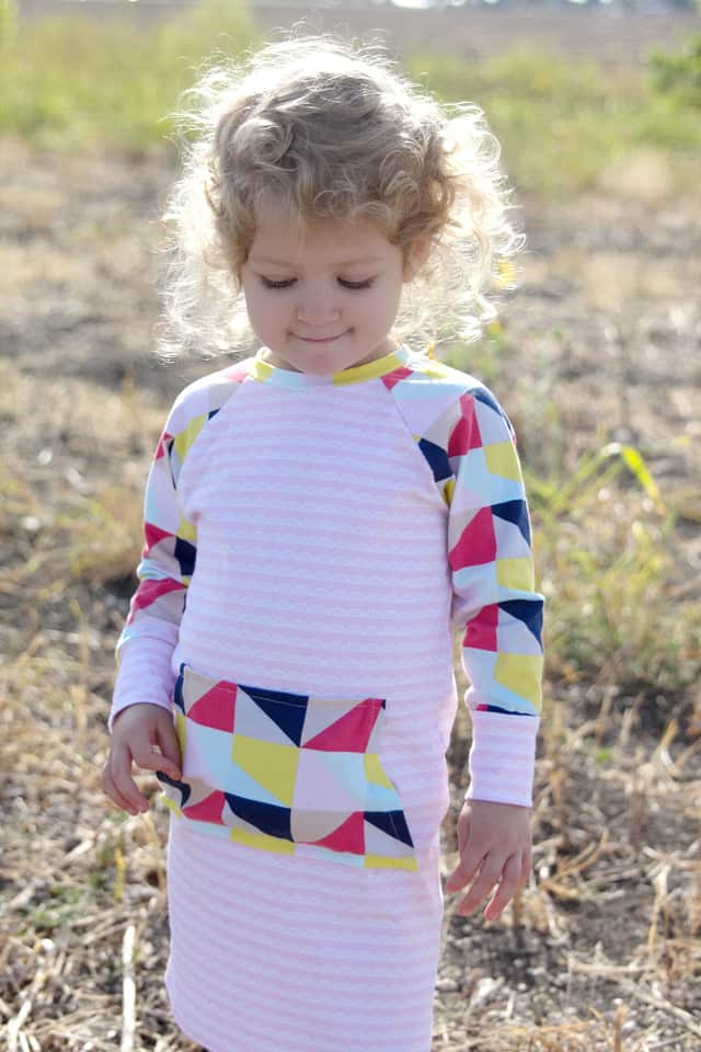 Recess Raglan Dress Hack with Idlewild Fabric by Riley Blake diy clothing ideas | simple sewing tutorials | diy sewing tips | sewing tips and tricks | sewing tutorials | diy kids clothing || See Kate Sew