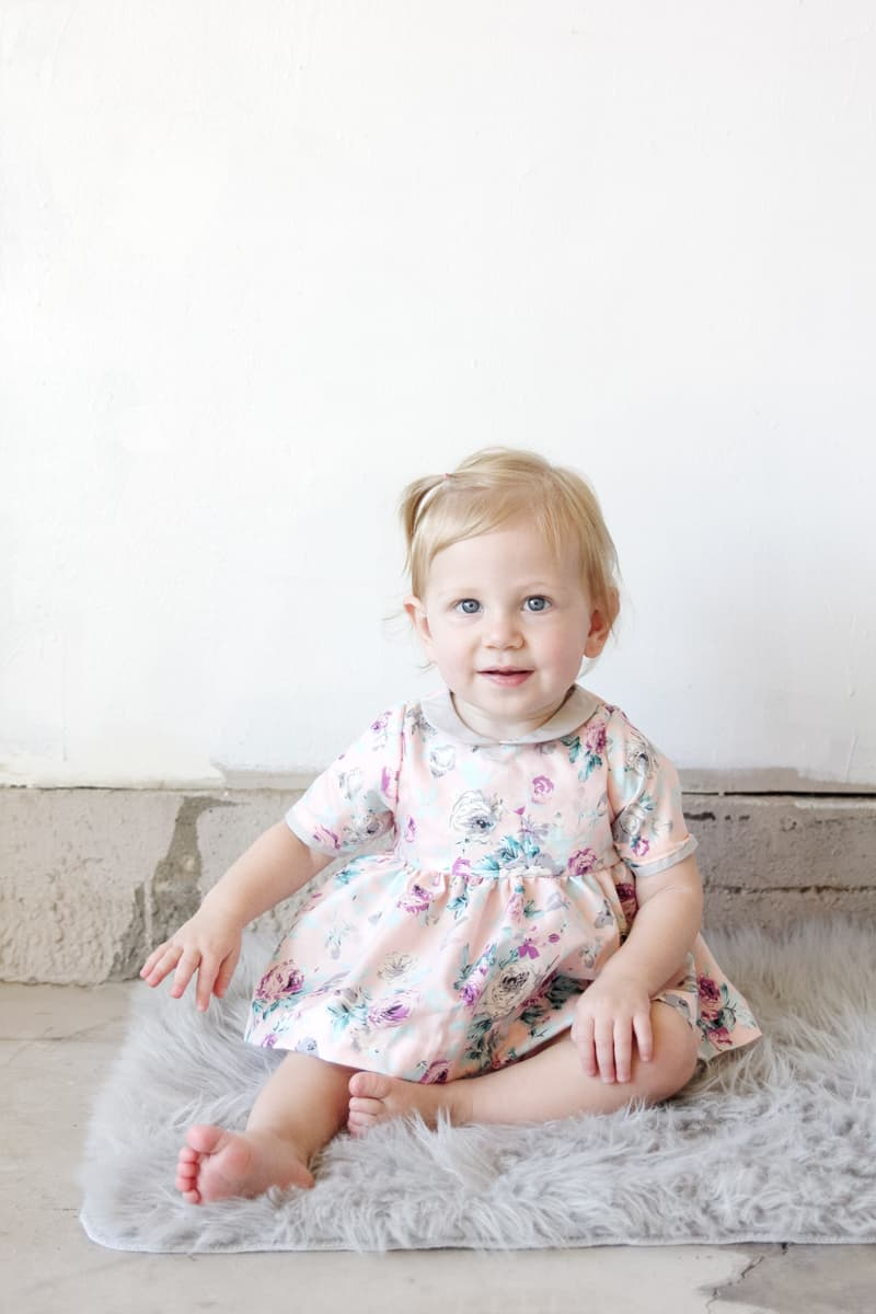 The GOLD COLLAR GIRL pattern for BABY // See Kate Sew