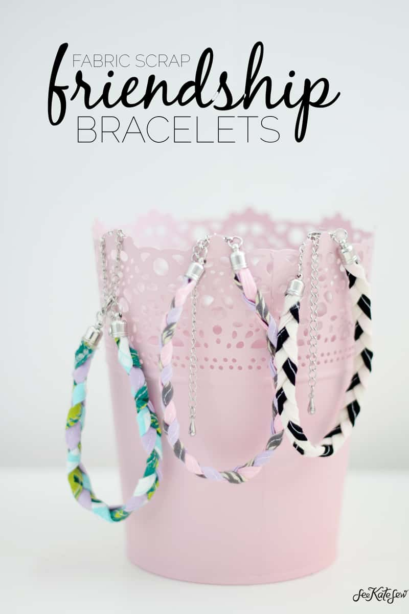 Scrap Fabric Friendship Bracelets | See Kate Sew