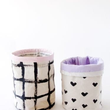 Fabric Bucket Tutorial | See Kate Sew