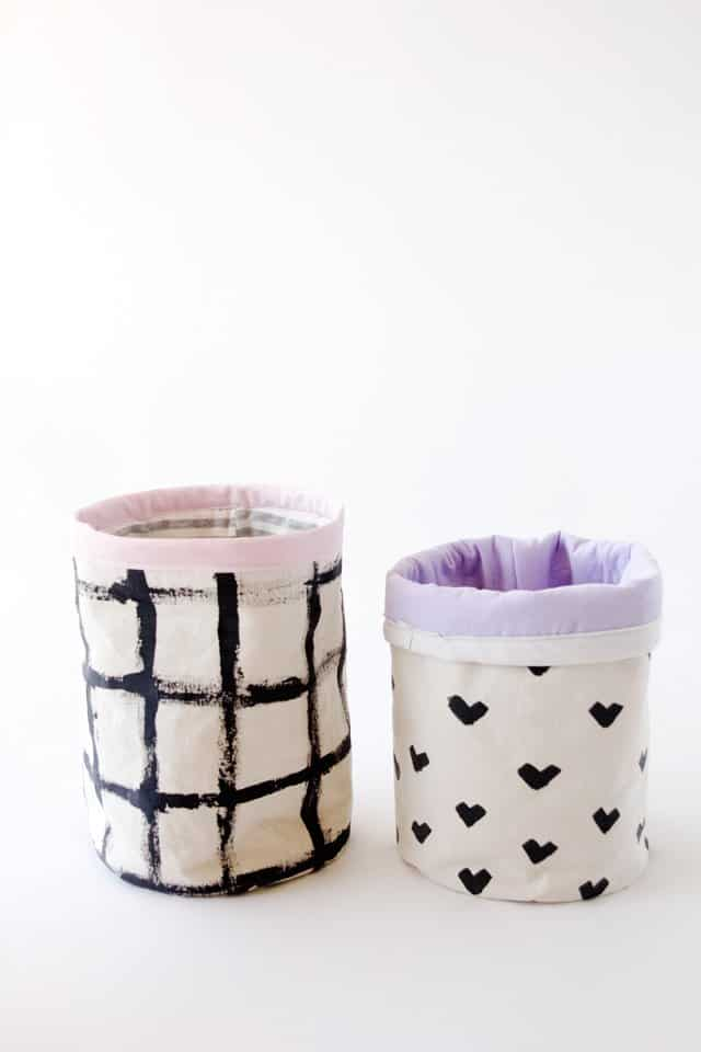 DIY Fabric Basket Tutorial with Johnson's - see kate sew