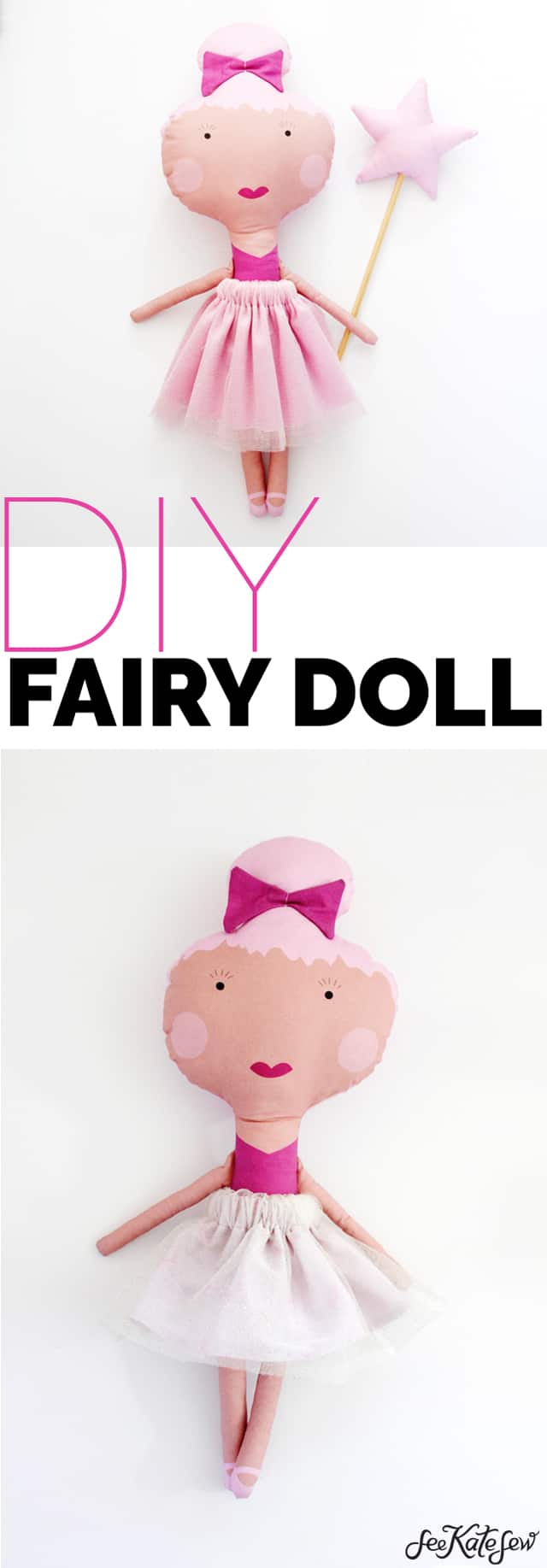 Make your own doll with doll fabric! | diy fairy doll fabric | homemade doll | diy doll | sew your own doll | doll diy | diy toys for girls || See Kate Sew #doll #diydoll