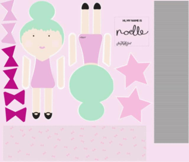 Make your own doll with doll fabric!   See Kate Sew