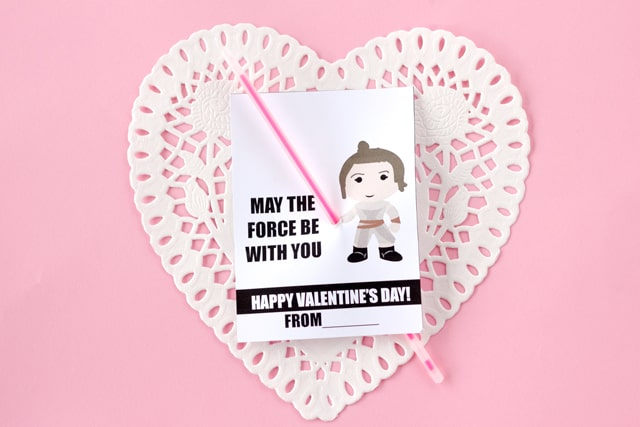 REY lightsaber valentines | See Kate Sew
