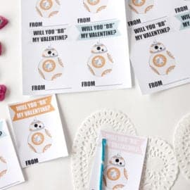 "BB8 Valentine Printables ""Will you BB my Valentine? 
