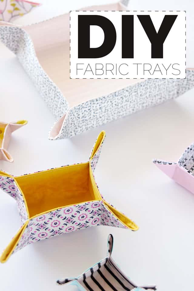 DIY fabric tray tutorial with free patterns! - see kate sew