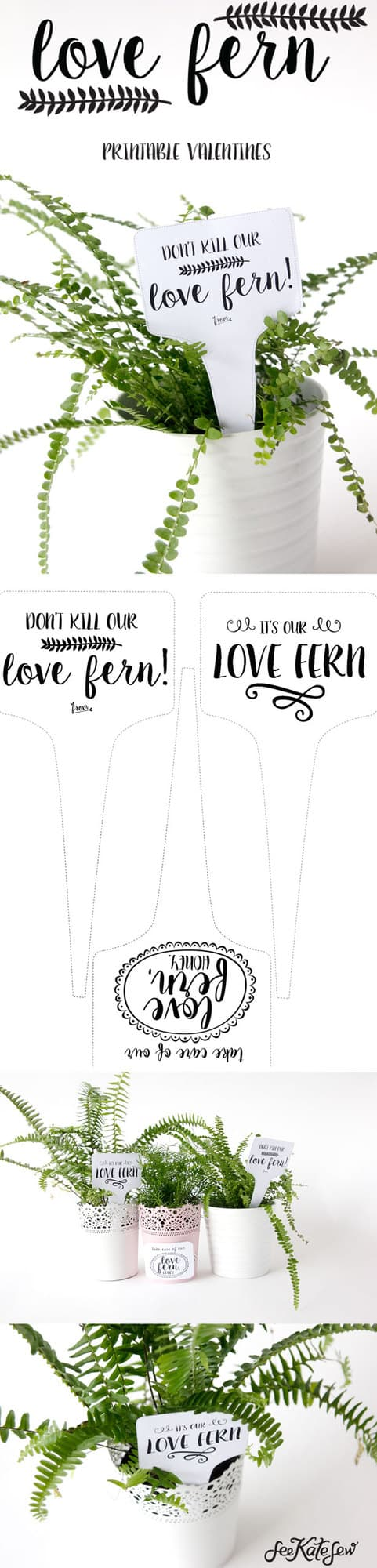 Love Fern Valentine Printable | See Kate Sew