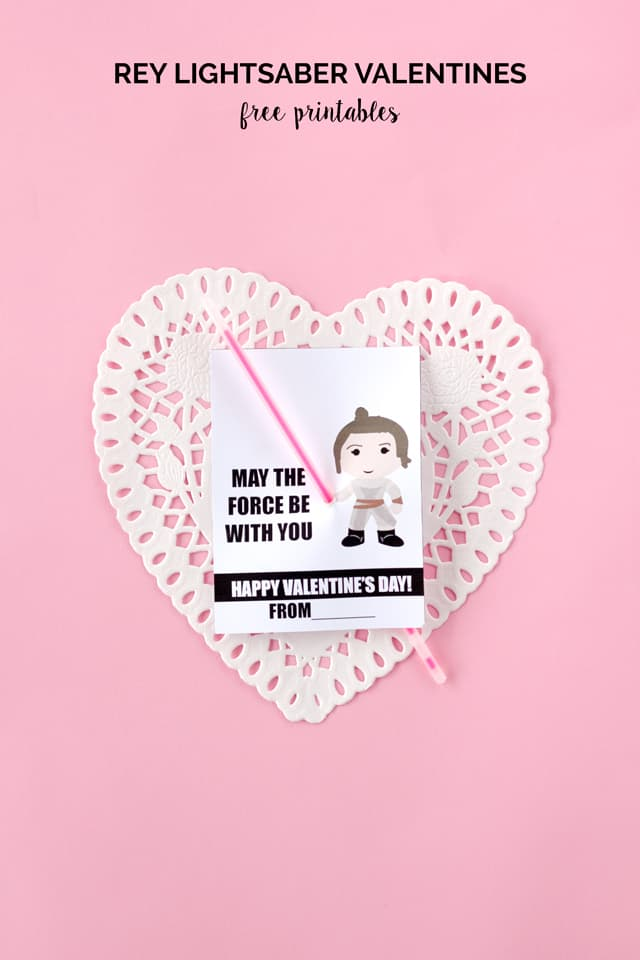 REY Lightsaber Valentines | Star Wars Themed Valentines | Fun Valentines  For Kids | Diy Valentines