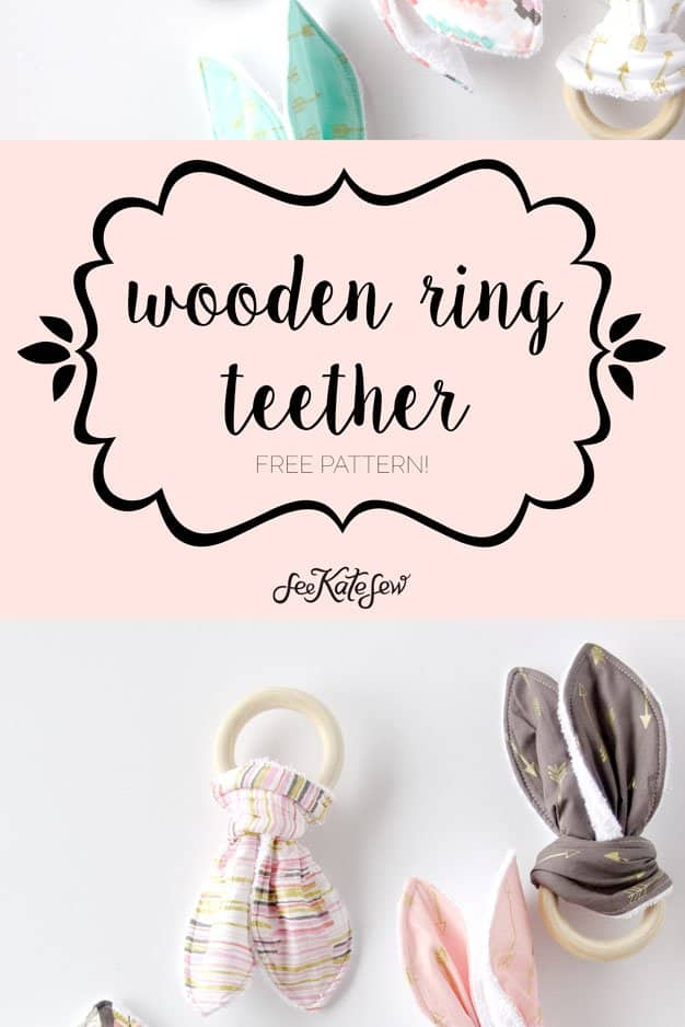 See Kate Sew| Wooden Ring Teether