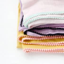 DIY Pom Pom Swaddle Blanket | See Kate Sew