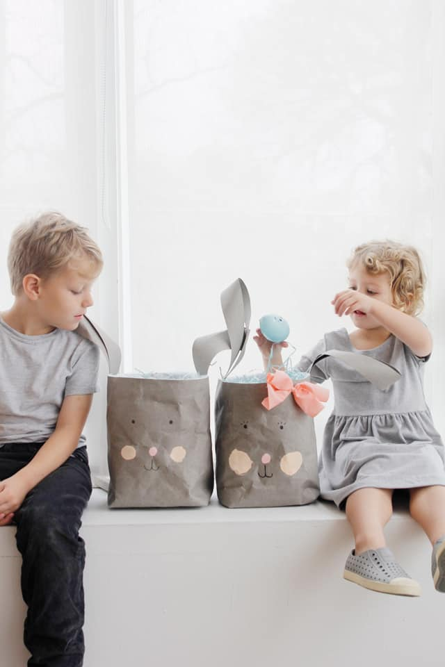 DIY Bunny Basket | homemade Easter baskets | diy Easter basket | sew an Easter basket | diy Easter ideas || See Kate Sew #easterbasket #diyeasterbasket #homemadeeaster