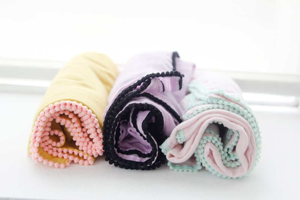 DIY Pom Pom Swaddle Blanket | See Kate Sew