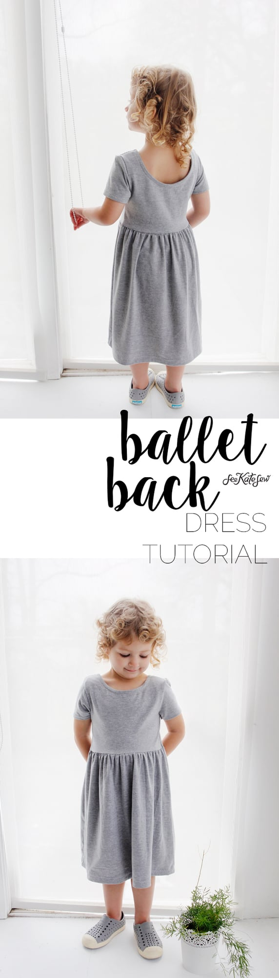 Ballet Back Dress Tutorial | See Kate Sew