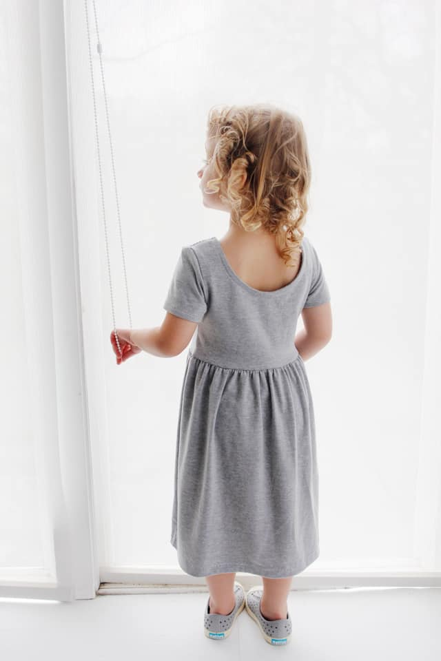 Ballet Back Knit Dress Tutorial | diy kids clothing | sewing tutorials | kids clothing tutorial | ballet dress pattern | diy ballet dress for girls || See Kate Sew #sewing #diyclothing #balletdress #knitdress