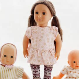 """18"""" Doll Sewing Pattern 