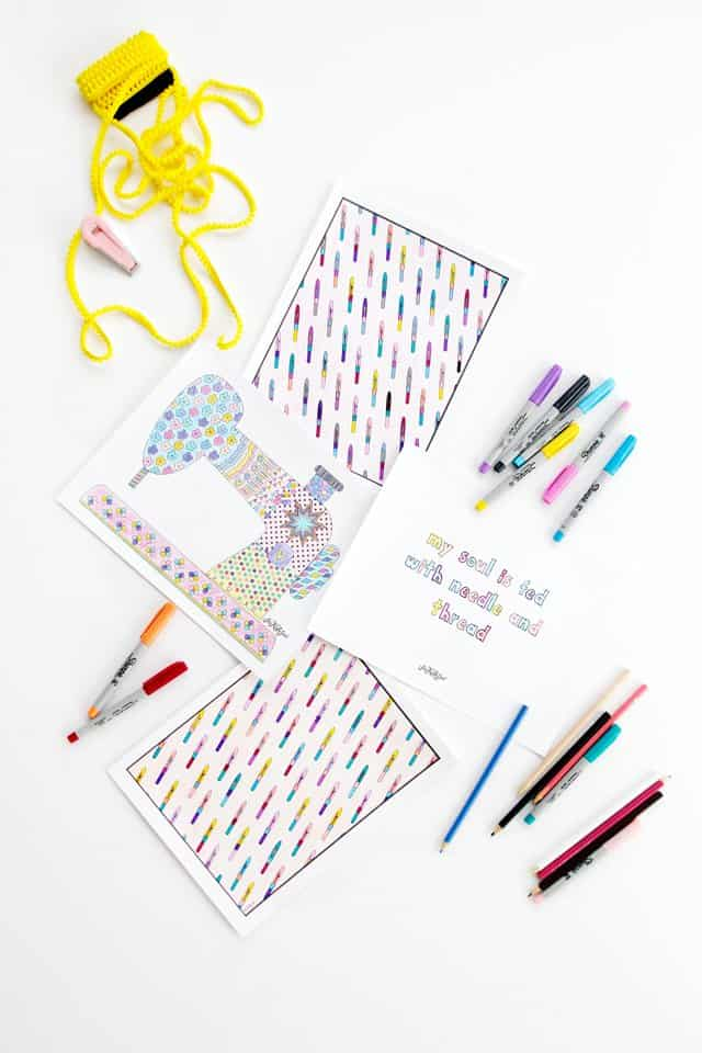 FREE Sewing Coloring Pages | See Kate Sew
