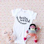 Hello world onesie tutorial with cut file!