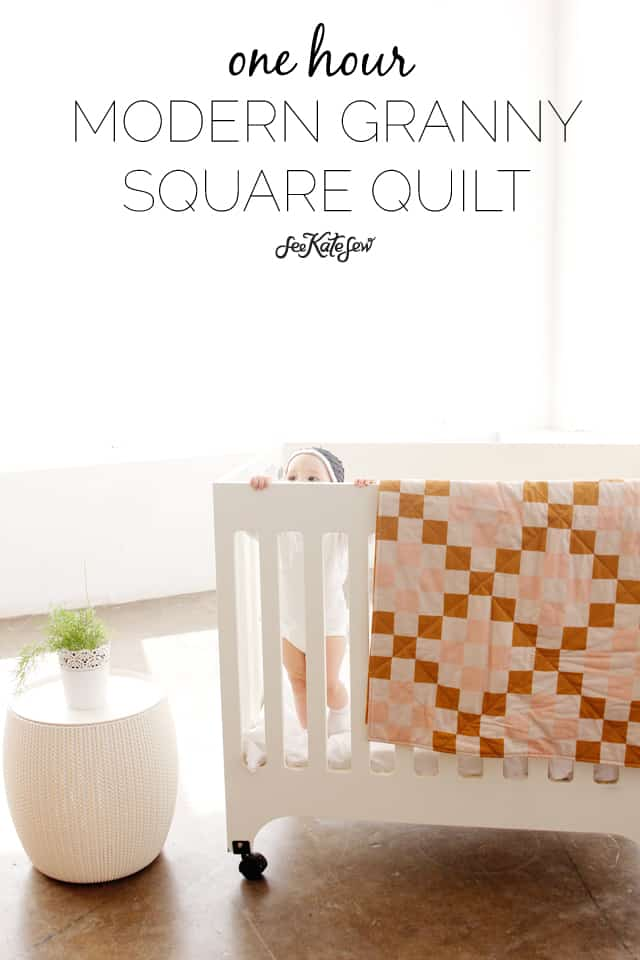 One Hour Granny Square Quilt Tutorial | See Kate Sew