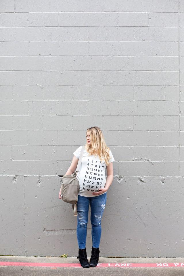 Countdown Maternity Tee | See Kate Sew