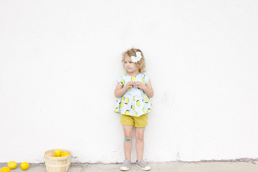 the Manhattan Blouse in Lemon Fabric | See Kate Sew