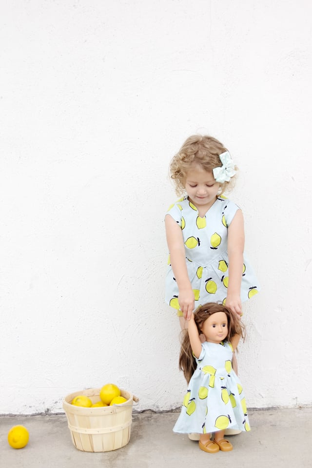 the Manhattan Blouse in Lemon Fabric | See Kate Sew #sewing #diykidsclothes #kidsclothing #summertop #summerclothing #lemons