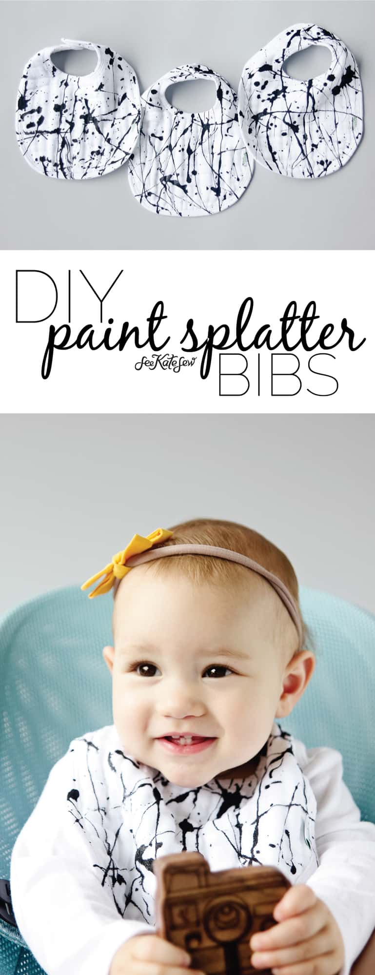 Paint Splatter Bibs | See Kate Sew