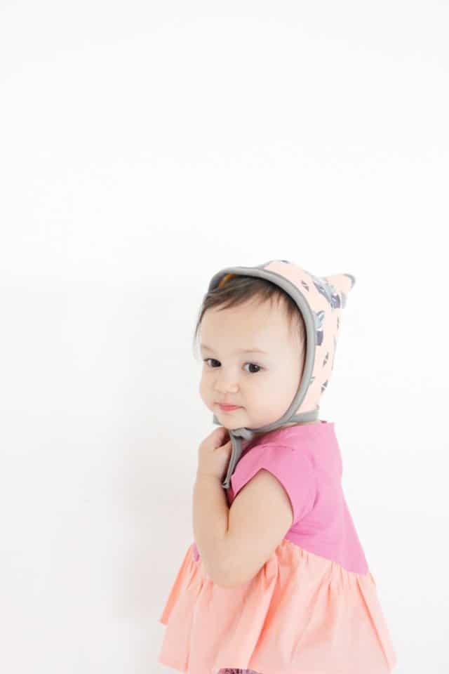PIXIE Baby Bonnet Pattern | diy baby bonnet | free sewing patterns | diy baby accessories | homemade baby bonnet || See Kate Sew #babybonnet #sewingpatterns #diybaby