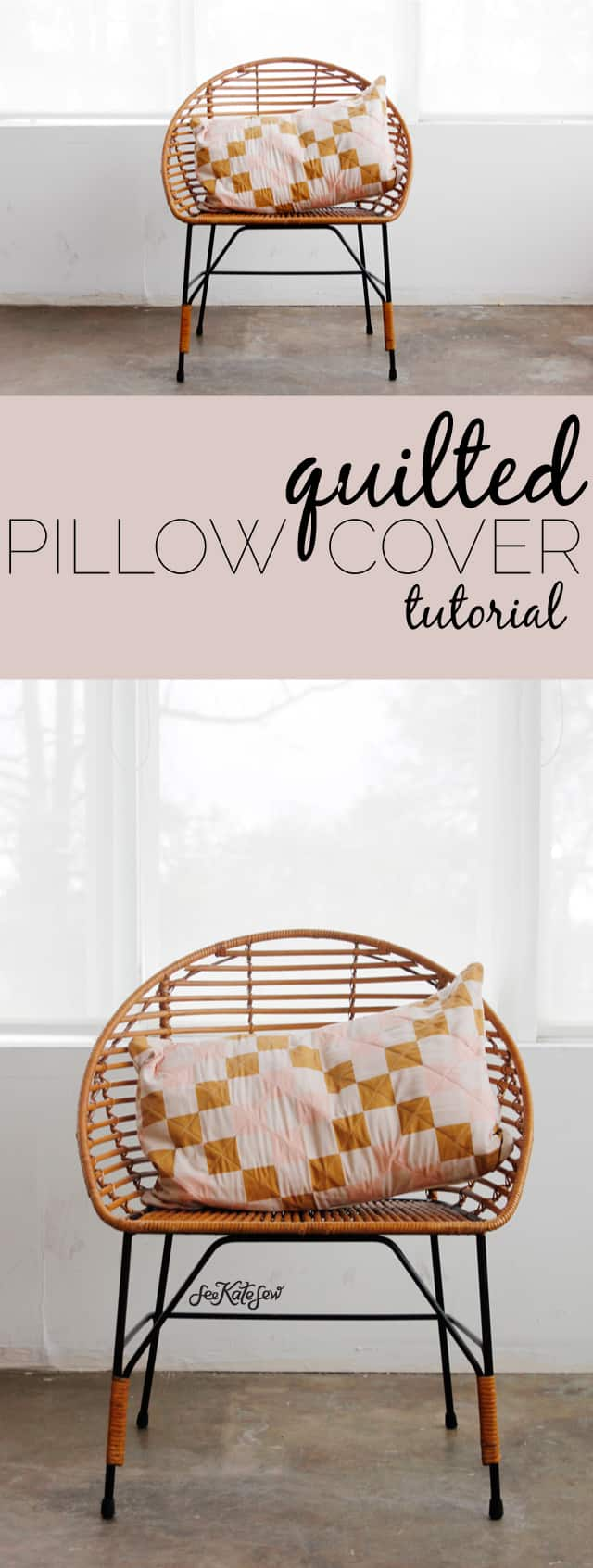 Quilted Pillow Cover Tutorial | See Kate Sew