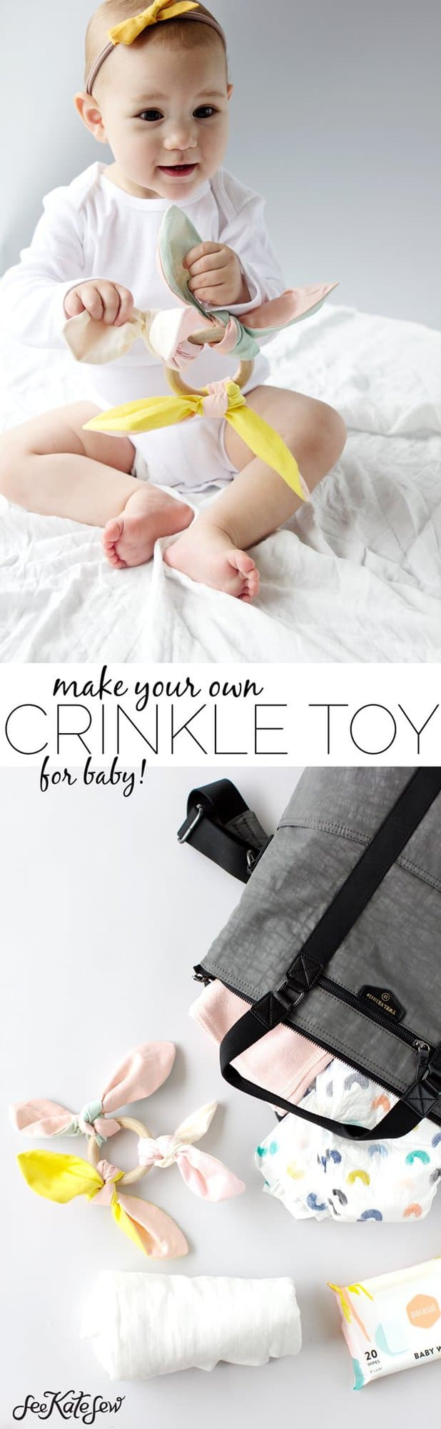 DIY Knotted Crinkle Toy | See Kate Sew