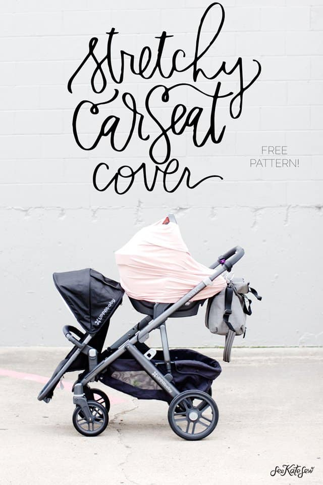 DIY Car Seat Cover | stretchy car seat cover | diy baby accessories | sewing a car seat cover | homemade car seat cover | free sewing tutorials || See Kate Sew #carseatcover #diybaby #sewingtutorial #seekatesew