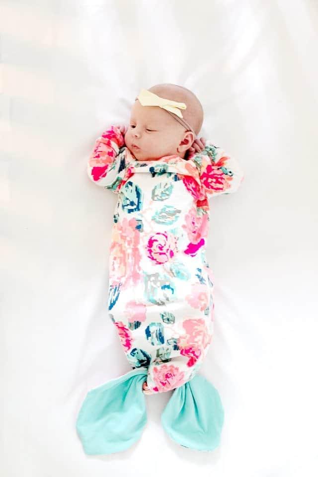 Mermaid Baby Gown Tutorial + Owlet Smart Sock Promo | see kate sew ...