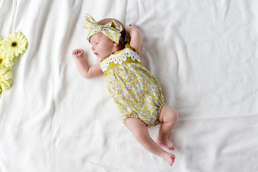 5 Baby Girl Sewing Patterns you gotta try! These patterns are so easy and quick, you could do them all in 1 afternoon! || See Kate Sew #babyclothes #diybabyclothes #diybaby #seekatesew