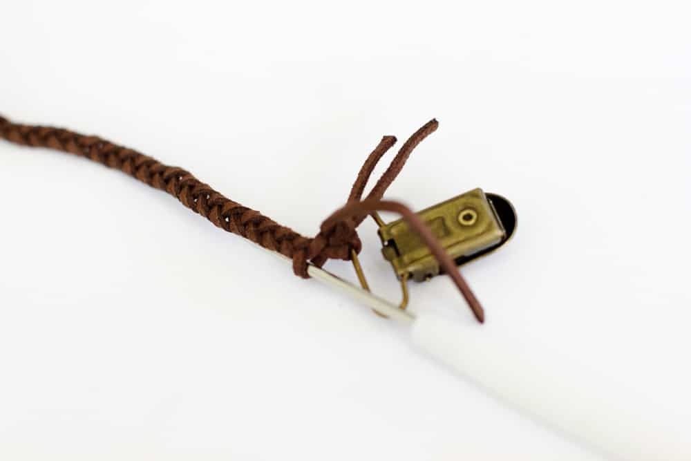 Braided Leather Pacifier Clip Tutorial | See Kate Sew