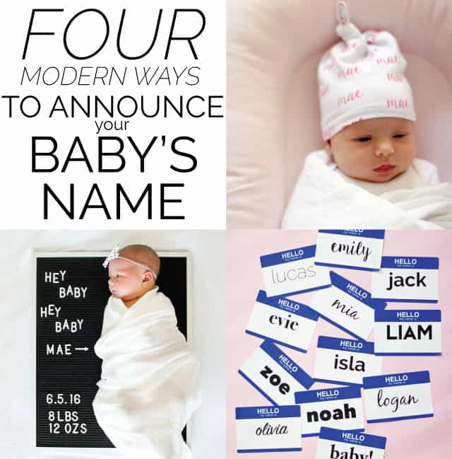 4 Modern Ways To Announce Baby Name See Kate Sew