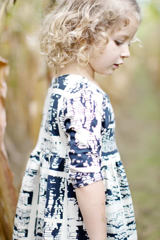 Pippa Peplum with April Rhodes Fabric | Knit Fall Dresses for Girls | fall fashion for kids | kids fall fashion | fall dresses for girls | fall fashion for girls | kid friendly fall fashion | kids clothing tutorials || See Kate Sew