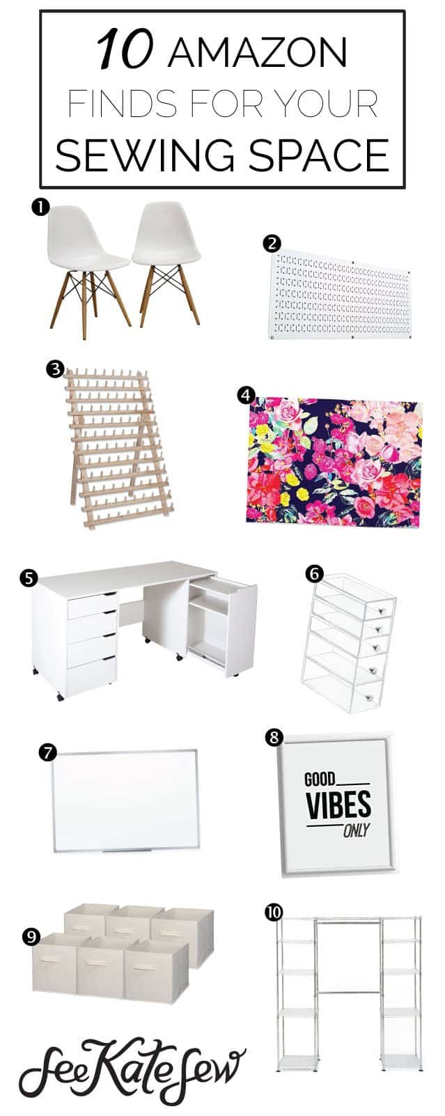 10 Amazon Finds for Your Sewing Space | sewing products | sewing must haves | sewing room ideas | decorating the sewing room || See Kate Sew #sewingroom #sewingmusthaves