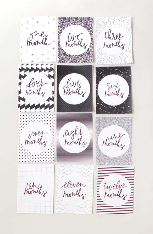 FREE printable month-by-month cards
