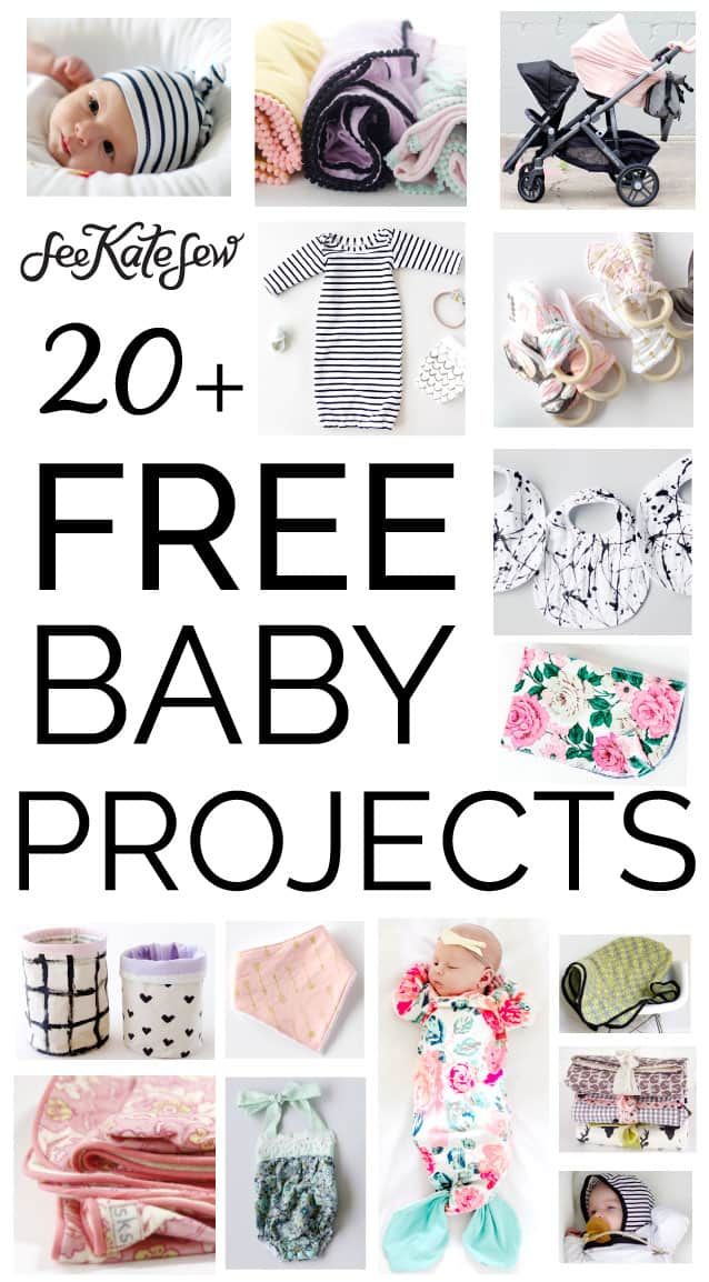 Free baby sewing projects see kate sew